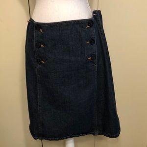 ❤️Liz Claiborne blue jean skirt